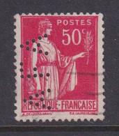 Perforé/perfin/lochung France No 283 AFA Sa Des Houillères Et Fonderies De L'Aveyron Puis Sa Des Aciéries De France - Gezähnt (Perforiert/Gezähnt)