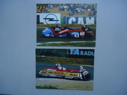 2 Cartes Postales Side-cars : Alain Michel & Steve Webster ( Course - Moto G.P. ) - Motorcycle Sport