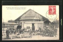 CPA Falaise, Arrivée D`un Wagon-Réservoir De Vins De Bordeaux Pour La Maison J. Laumaille - Falaise