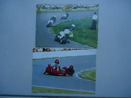 2 Cartes Postales Moto BMW ( E.a. : 1 X Side-car )  ( Course - Moto G.P. ) - Motorcycle Sport