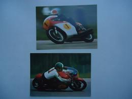 2 Cartes Postales MV AGUSTA / Giacomo AGOSTINI - Moto G.P. - Motorcycle Sport