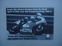 Carte Postale Michel SIMEON -  Kampioen Van België  250 Cc MOTO 1983 Champion De Belgique ( Yamaha ) - Motorcycle Sport