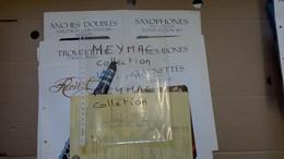 SELMER PARIS LOT DEPLIANT TROMBONNE TROMPETTE CLARINETTE ANCHE DOUBLE SAXO SAXOPHONNE + TARIF 1985 Instrument Musique - Strumenti Musicali