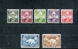 Groenland 1938-46 Yt 1-5 7 9 * - Ungebraucht