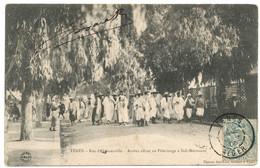 ALGERIE CP 1906 TENES T84 SUR 5C BLANC  CP ARABES ALLANT EN PELERINAGE A SIDI MEROUANE - 1877-1920: Semi Modern Period