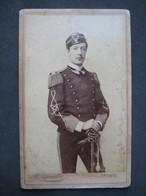 FOTO CARTONATA MILITARE MILITAIRE UNIFORME FOTO ZANUTTO TRIESTE CON INDICAZIONE K. Krziwanek WIEN - Guerra, Militares