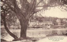 PONT AVEN  Le Port Vu Sous Les Arbres Su Petit Quai RV - Pont Aven