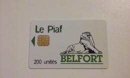 TRES RARE CARTE A PUCE PIAF BELFORT BON ETAT !!! - PIAF Parking Cards