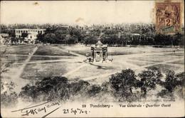CPA Pondichery Ponducherry Indien, Vue Generale, Quartier Ouest - India