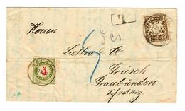 1907: München Nach Graubünden, Nachgebühr Grüsch - Bavaria