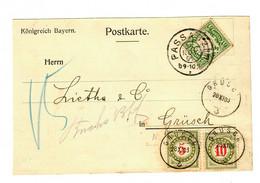 1906: Passau Nach Grüsch, Nachgebühr, Taxe, Ungar. Fluss-und Seeschifffahrt - Bavaria