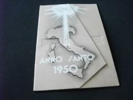 CARTOLINA CON APERTURA E MECCANISMO MOBILE ANNO SANTO 1950 PAPA PIUS P.P.XII GESU' - Papi