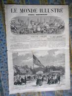 LE MONDE ILLUSTRE 11/07/1868 PARIS LIEGE FABRICATION ARMES LA FLECHE PRYTANEE ARTS HEILBUTH MILANO OBRENOVIGHT SERBIE - 1850 - 1899