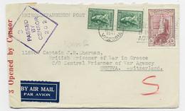 AUSTRALIA 4DX2+5/ LETTRE COVER AIR MAIL VICTORIA 1941 TO SUISSE CENSURA 202 - Briefe U. Dokumente
