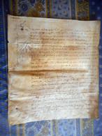 PARCHEMIN 4 PAGES Daté 1642 Région Mortagne ORNE NORMANDIE A étuduer - Manuscripts
