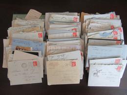 Important Lot D'enveloppes Timbrées - Archive D'un Notaire D'Yssingeaux - Pour étude Des Timbres Et Oblitérations - 1921-1960: Modern Period