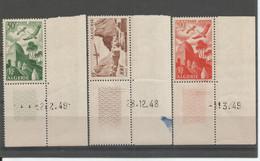 Algérie 192 - 1949/53 PA N° 9 à 11 Coin Daté - Airmail