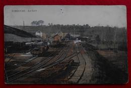 CPA Colorisée 1912 - Virginal, Ittre - La Gare - Ittre