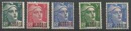 Algérie 199 - 1945/47 N° 237 à 241 - Ohne Zuordnung