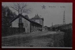 CPA Val-de-Poix, Saint-Hubert - La Gare / Edit Evrard-Thys, Café-Restaurant - Saint-Hubert