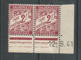 Algérie 208 - 1942 Taxe N° 26 Coin Daté - Postage Due