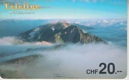 SWITZERLAND - PHONE CARD - PRÉPAYÉE ***  TELELINE & MONTAGNES  *** - Montagne