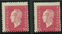 Variété France - Cérès N° 691f - Marianne De Dulac (Londres) - Piquage à Cheval - Neuf ** - Abarten: 1945-49 Ungebraucht