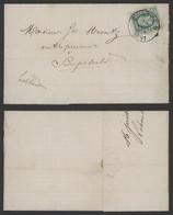"""émission 1869 - N°30 Sur LAC Obl Simple Cercle """"Montzen"""" (1881) > Hollande / Port Préférentiel. - 1869-1883 Léopold II"""