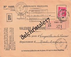 """Val 0188 - 1 Type Paix 2ème Série 1f75 (n°289) Sur Valeurs à Recouvrer De 1936 """"Air Liquide Azote Oxygène"""" à ST-DIZIER - 1921-1960: Modern Period"""