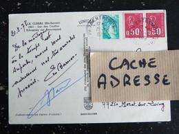 ENTREMONT - HAUTE SAVOIE - CACHET ROND MANUEL SUR SABINE ET MARIANNE BEQUET - LA CLUSAZ LAC DES CONFINS - Manual Postmarks