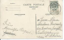 Fantasiekaart Met OCB 81 - Afstempeling GHISTELLE - COBA 4 - 1893-1907 Wappen