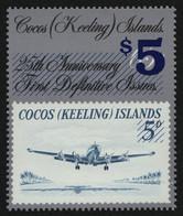 Kokos-Inseln 1990 - Mi-Nr. 236 ** - MNH - Flugzeuge / Airplanes - Cocoseilanden