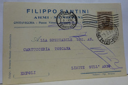 CIVITAVECCHIA  ---  ROMA  -- FILIPPO SANTINI  -- ARMI  E MUNIZIONI - Civitavecchia