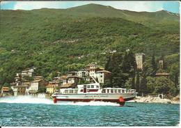 """Rezzonico Fraz. Di San Siro (Como) Castello, Aliscafo """"Freccia Delle Azalee"""", Castle, Hydrofoil, Chateau, Aéroglisseur - Como"""