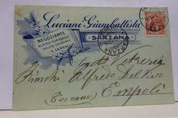 SARZANA  ---LA SPEZIA  ---   LUCIANI  GIAMBATTISTA -- NEGOZIANTE  BURRO -FORMAGGI - La Spezia