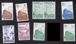 Lot De 8 Colis Postaux Neufs, Références Maury 1167, 168, 193, ...etc,.cf Scan Pour Détail ét état Des Timbres - Ungebraucht