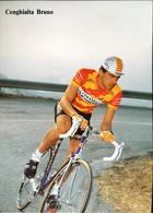 Postcard Bruno Cenghialta - Ceramische Ariostea - 1989 - Ciclismo
