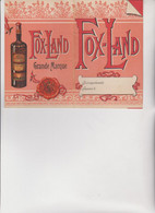 LIBRETTO NOTES PUBBLICITARIO :  RUM  FOX-LAND  -  GRANDE  MARQUE , - Posters