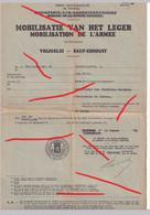 Orgineel Mobilisatie Van Het Leger Mobilisation De L'armee 1940 Vanderlinden A Sauf - Conduit Vrijgelei - 1939-45