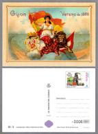 GIJON - VERANO DE 1888 - Leon - Lion - La Tarjeta Del Correo 2001 - 1931-....