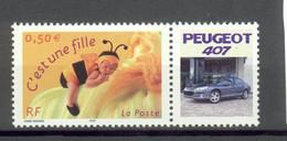 3634 C'est Une Fille  Personnalisé Peugeot 407 - XX - Personnalisés