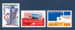 ⭐ Espagne - YT N° 3757 à 3759 ** - Neuf Sans Charnière - 2005 ⭐ - 2001-10 Unused Stamps