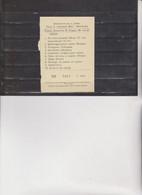 BIGLIETTO   LOTTERIA  - SOTTOSCRIZIONE A PREMI  1988 A  MATTARANA - Lottery Tickets