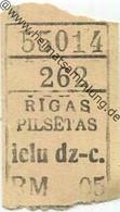Lettland - Rigas Pilsetas - Rigaer Städtische Strassenbahnen - Fahrschein RM -.05 - World