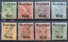 Deutsches Reich DIENSTMARKEN 1920, Mi 57-64 MHN Postfrisch - Dienstzegels