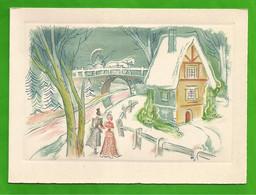 CP  BARRE-DAYEZ N° 12820 B Couple En Promenade, Calèche Sur Le Pont - 1900-1949