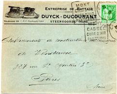 NORD - Dépt N° 59 = CASSEL 1939  = Flamme DAGUIN = CURE AIR  / PANORAMA  + BATTAGE DUYCK DUCOURANT - Mechanical Postmarks (Other)