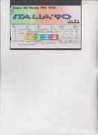 BIGLIETTO COPPA DEL MONDO  FIFA  1990  -  ITALIA '90 .  STADIO OLIMPICO PRIMA  FASE . - Abbigliamento, Souvenirs & Varie