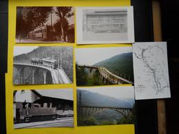 Photo ,TRAMWAY Et Gares Des ALPES MARITIMES ,collection Bourneuf ,lire Descriptif , Menton-Sospel - Treinen