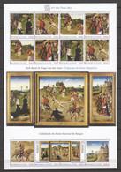 Guinee - Large MNH Sheet 3-PIECE PAINTING - SAINT HYPOLYTE -  DIRK BOUTS & HUGO VAN DER GOES - Religieux